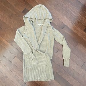 Vince Cashmere Hooded Long Sweater, Small